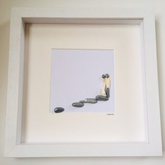 Every step of the way, Pebble Art, Wedding gift, anniversary gift