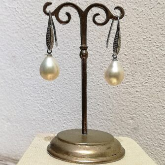 Cream Pearl Drop Earrings, Bridal Earrings