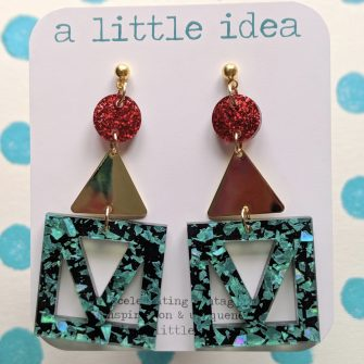 Funky Acrylic Earrings, A Little Idea