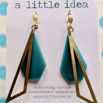 Art Deco Acrylic Earrings by A Little Idea