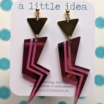 Acrylic Lightening Bolt Glam Earrings