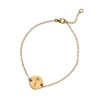 Gold Botanical Rose Bracelet