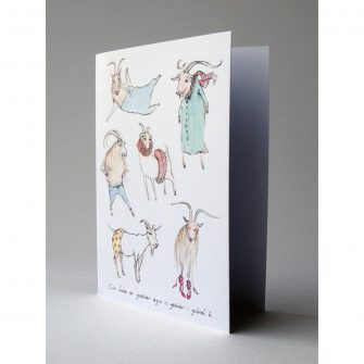 Irish Goat Proverb Card, Mireog
