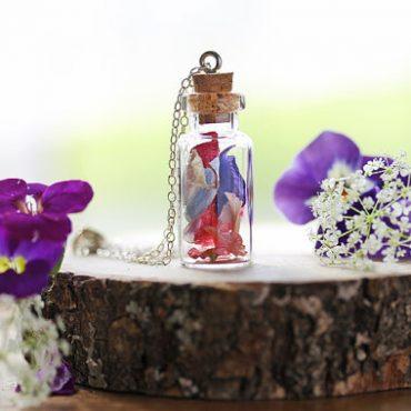 Delphinium Petal Necklace