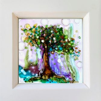 Tree Glass miniature painting