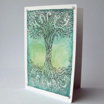 Happy Birthday, Tree of Life, Mireog Card