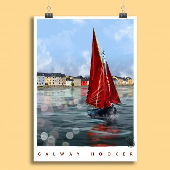 Galway Hooker Art Print_Explore with Marion