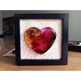 Glass Heart Painting