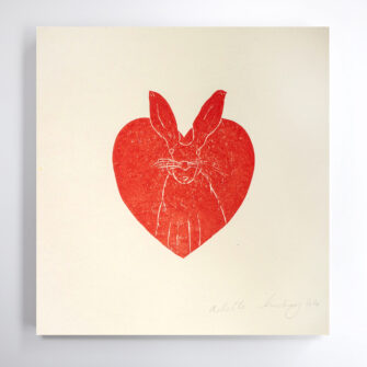 Hare heart Print by Hearts of Ireland