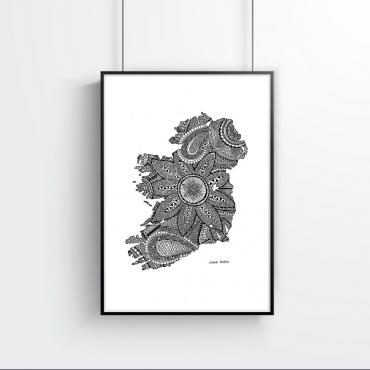 Ireland Map Drawing...
