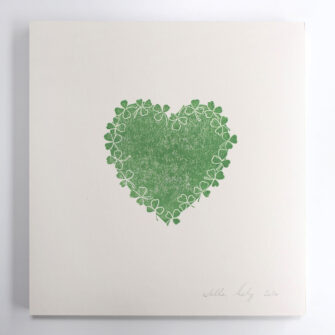 Shamrock Heart Green - Hearts of Ireland