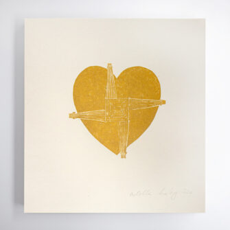 St Brigids cross heart Print by Hearts in Ireland
